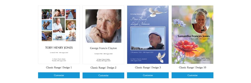 Choosing a front cover design