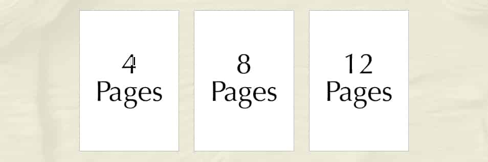 Planning your pages in the Order of Service