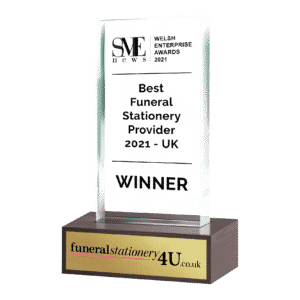 Best Funeral Stationery Provider Award